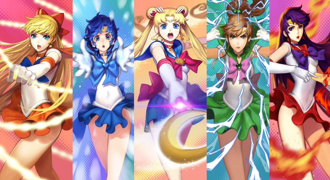 sailormoon power anime series girls beautifuls wallpaper