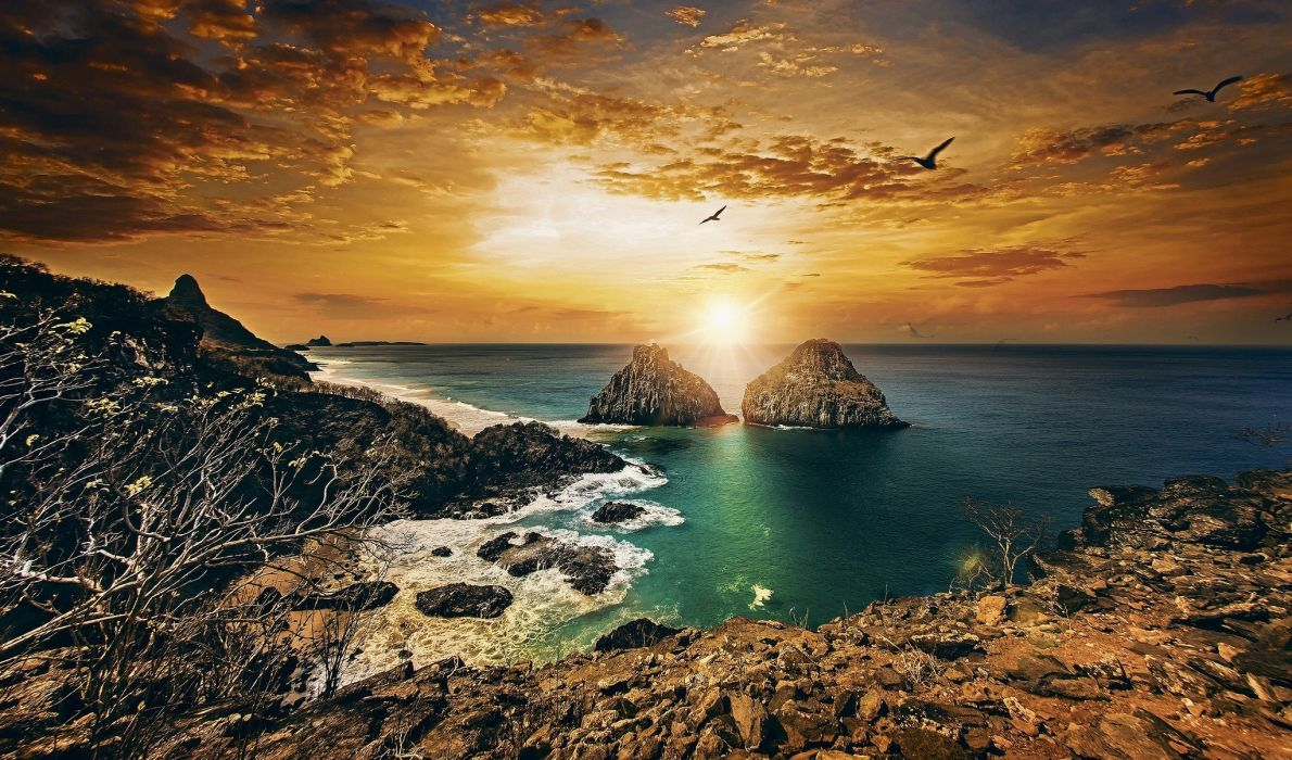 brazil Coast landscape wallpaper