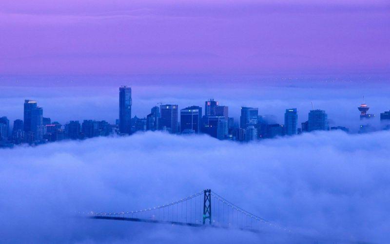 clouds landscape Purple Sky wallpaper