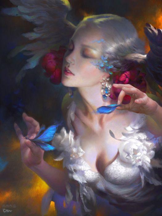 c12 original fantasy art woman beauty wallpaper