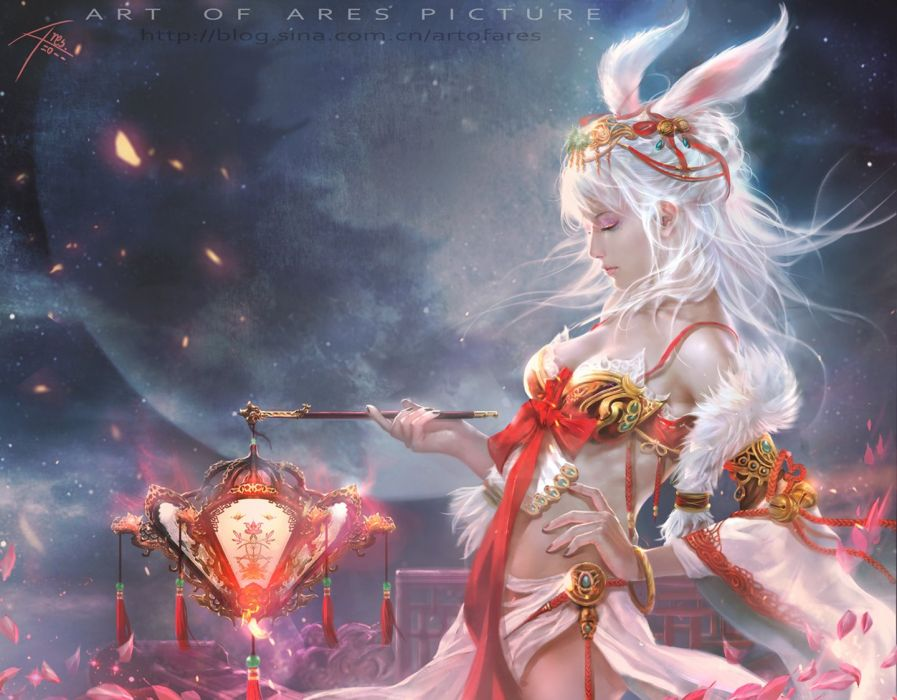ares cgartt original fantasy art beauty girl wallpaper