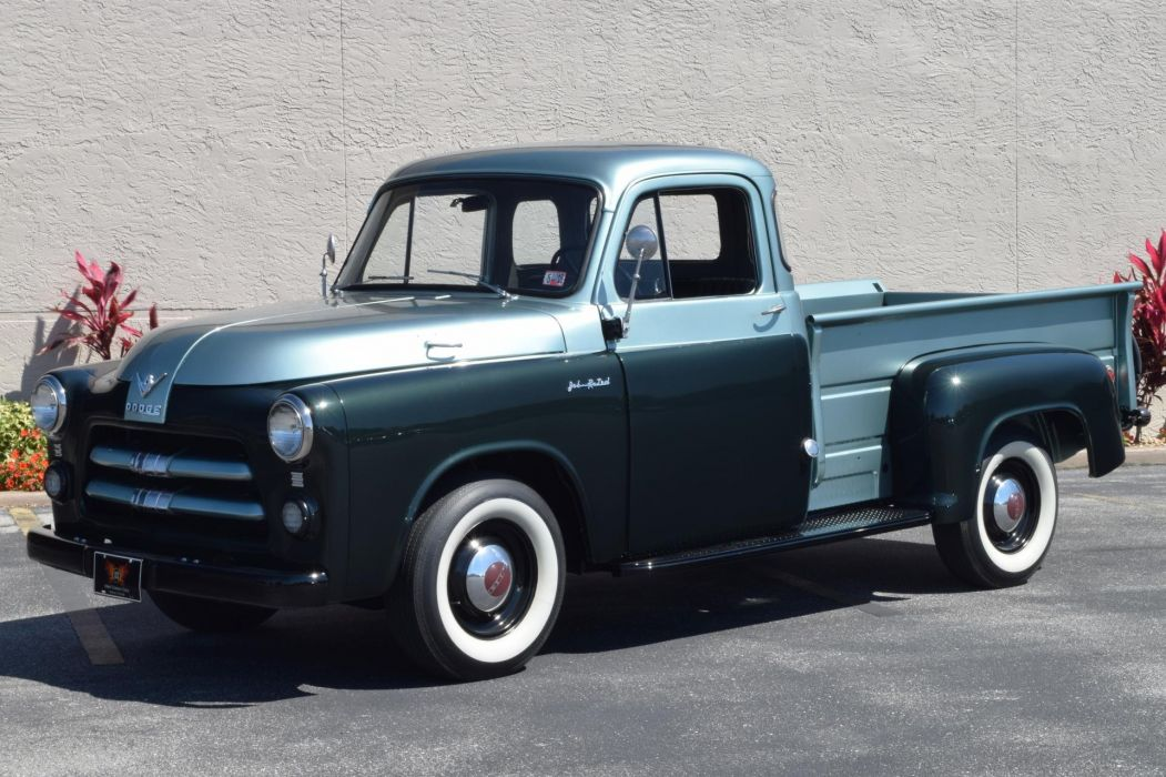 1955 DODGE JOB RATED RARE RED RAM HEMI pickup truck wallpaper