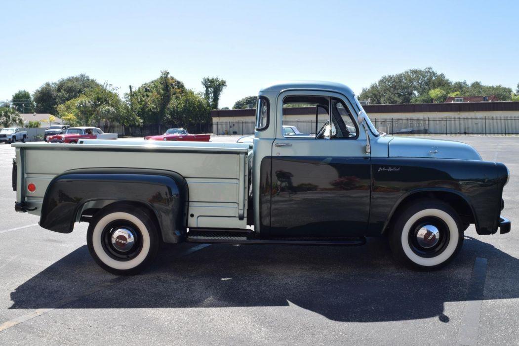 1955 DODGE JOB RATED RARE RED RAM HEMI pickup truck wallpaper