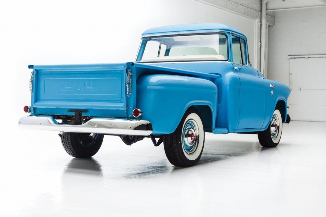 1957 gmc 100 pickup back window truck wallpaper