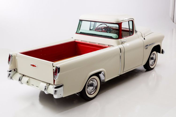 1955 chevrolet 3100 cameo pickup truck wallpaper