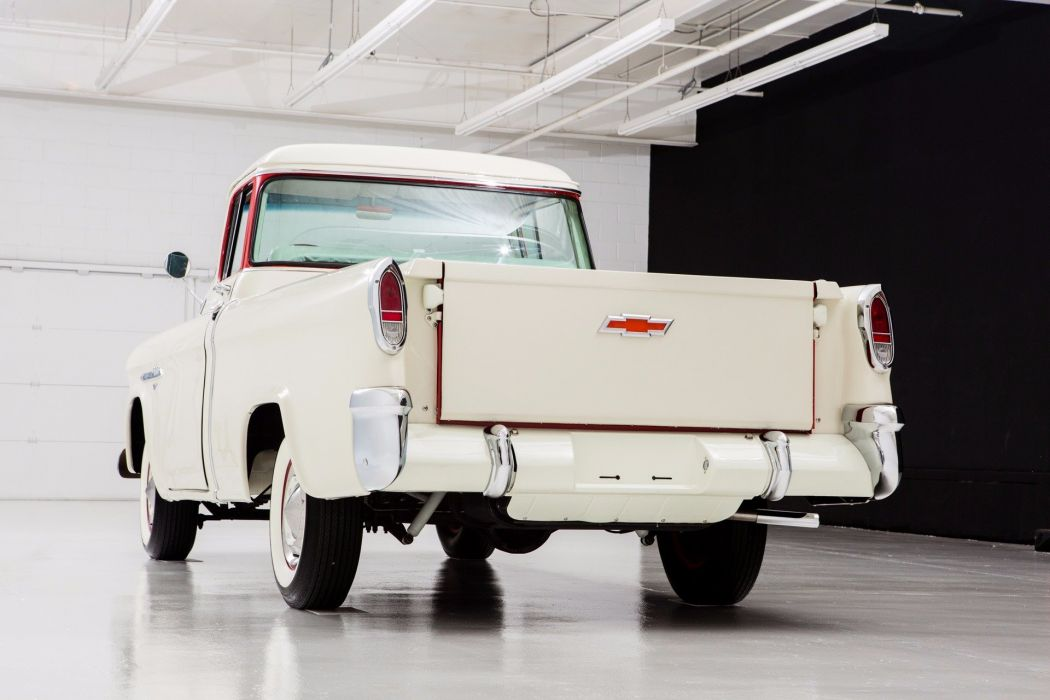1955 chevrolet 3100 cameo pickup truck wallpaper