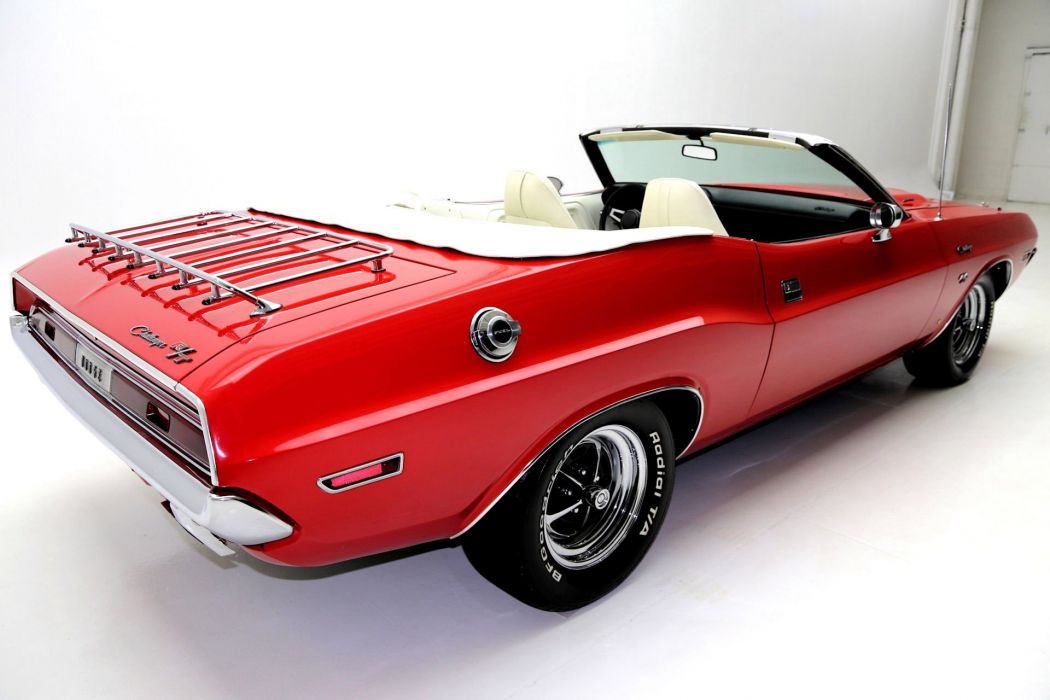 1970 dodge challenger convertible 383 cars red wallpaper