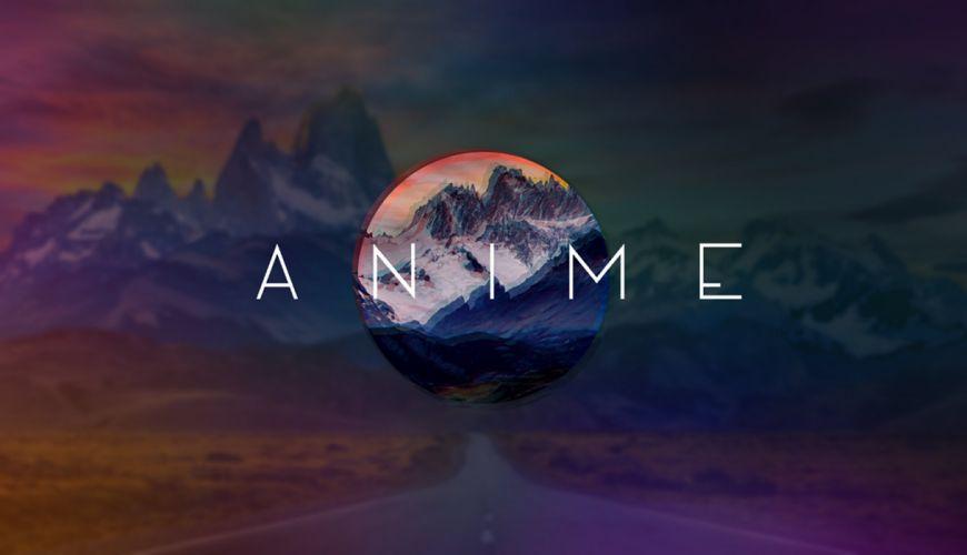 anime abstrate minimal minimalist minimalism swag psychedelic mountain circle horizont wallpaper