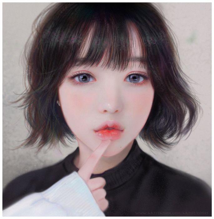 fantasy original beautiful choi Ruoxin Zhang artstation illustration wallpaper