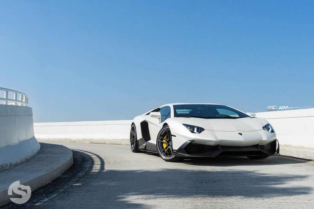Lamborghini Aventador 50th Anniversario cars white adv1 wheels wallpaper