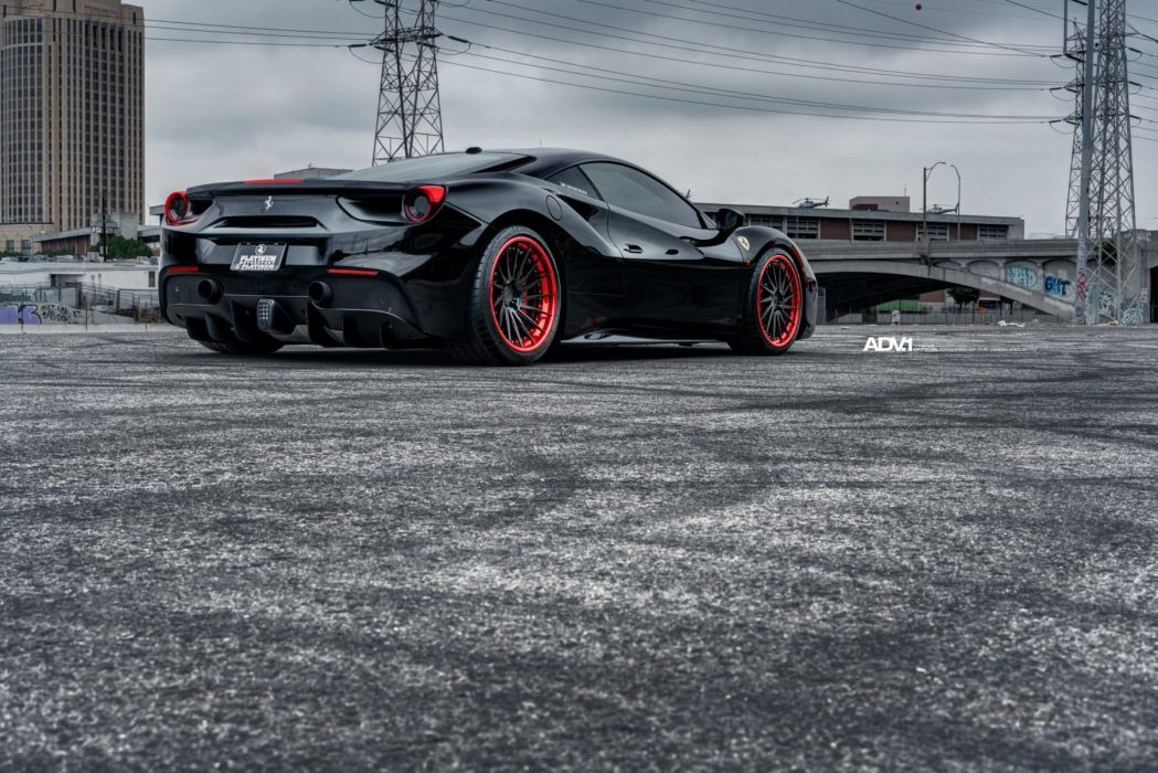 Ferrari 488 GTB cars adv1 wheels black wallpaper