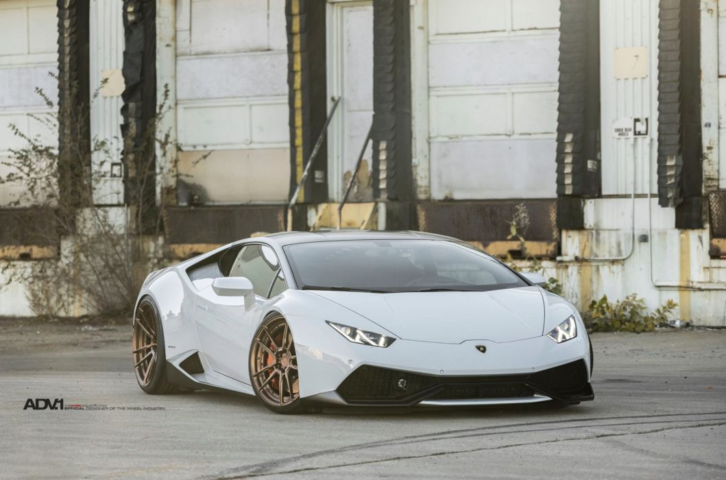 Bianco Monocerus Lamborghini Huracan cars adv1 wheels white wallpaper