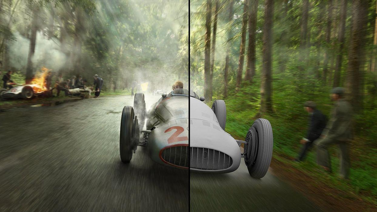 Silver Arrows Project 3D Cartoon Pre War Animation Race Cars Gran Prix Mercedes-Benz HD wallpaper