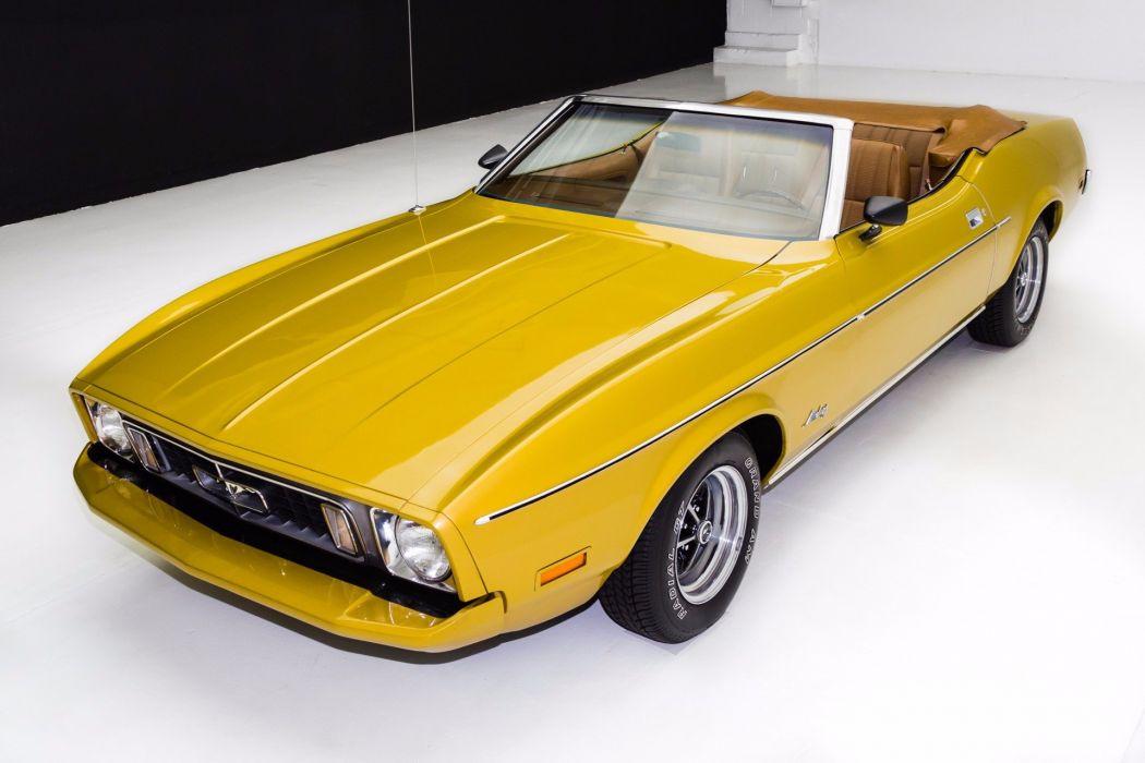 1973 ford mustang convertible 302 cars wallpaper