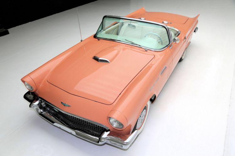1957 ford thunderbird convertible cars classic wallpaper
