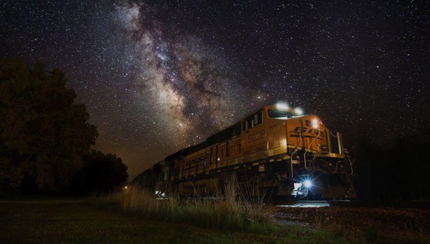 tren nocturno estrellas wallpaper