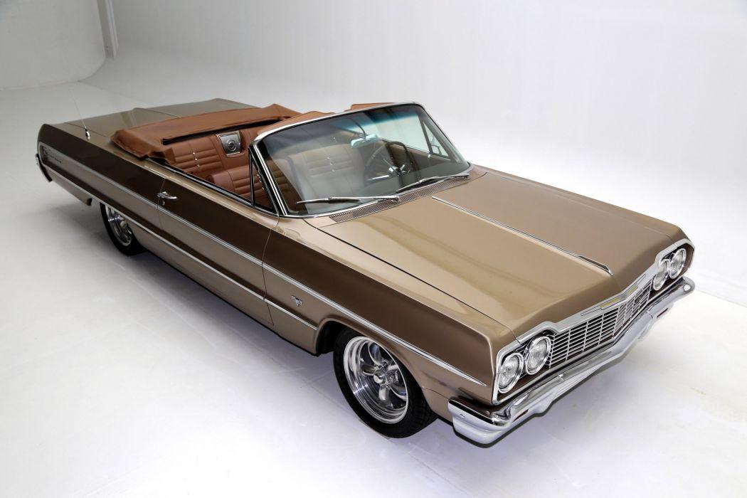 1964 chevrolet impala convertible cars wallpaper