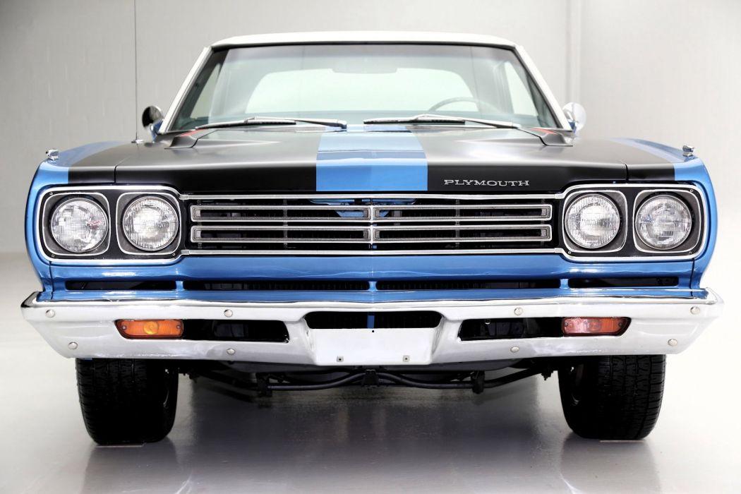 1969 plymouth road runner cars blue wallpaper