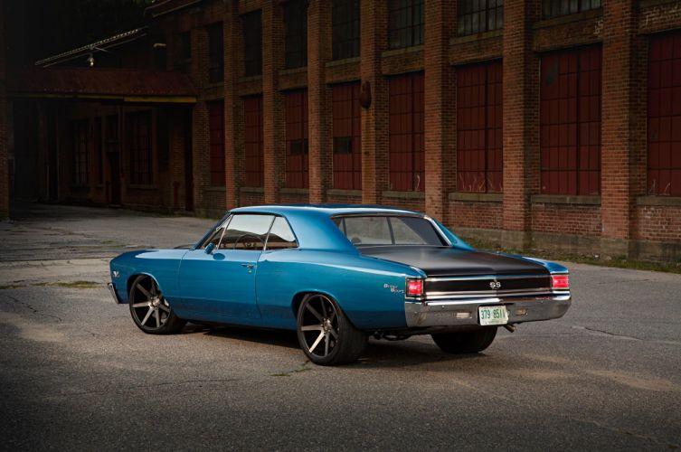 Big Block 1967 Chevrolet Chevelle cars blue wallpaper