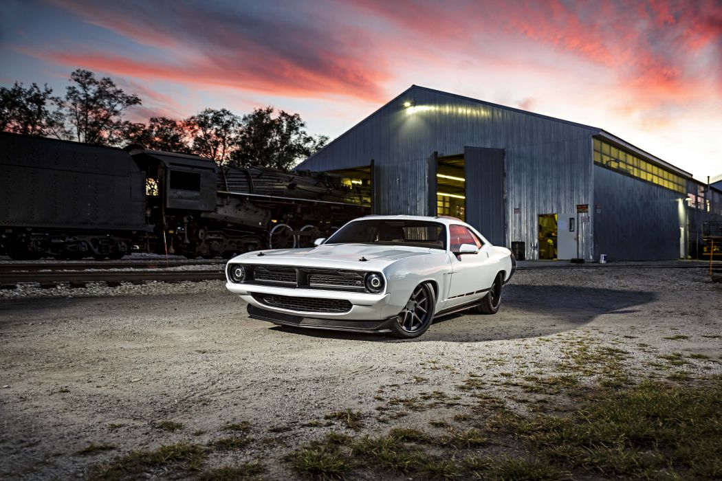 1970 Plymouth Cuda Street Machine cars white wallpaper