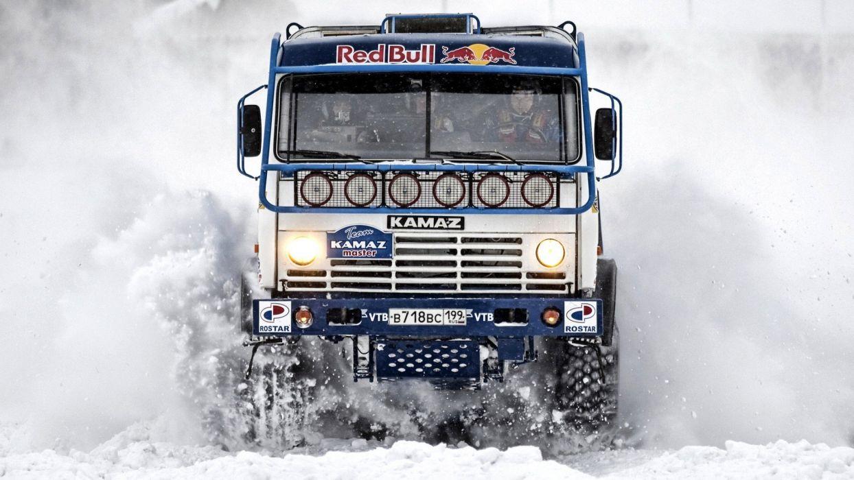 camion kamaz rallies agua wallpaper