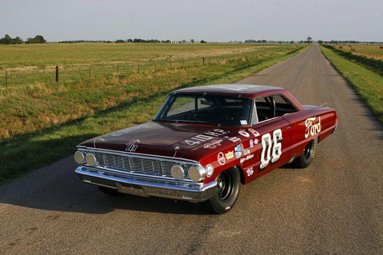 1964 NASCAR ford Galaxie cars racecars wallpaper