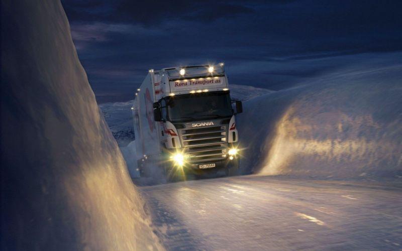 camion scania hielo wallpaper