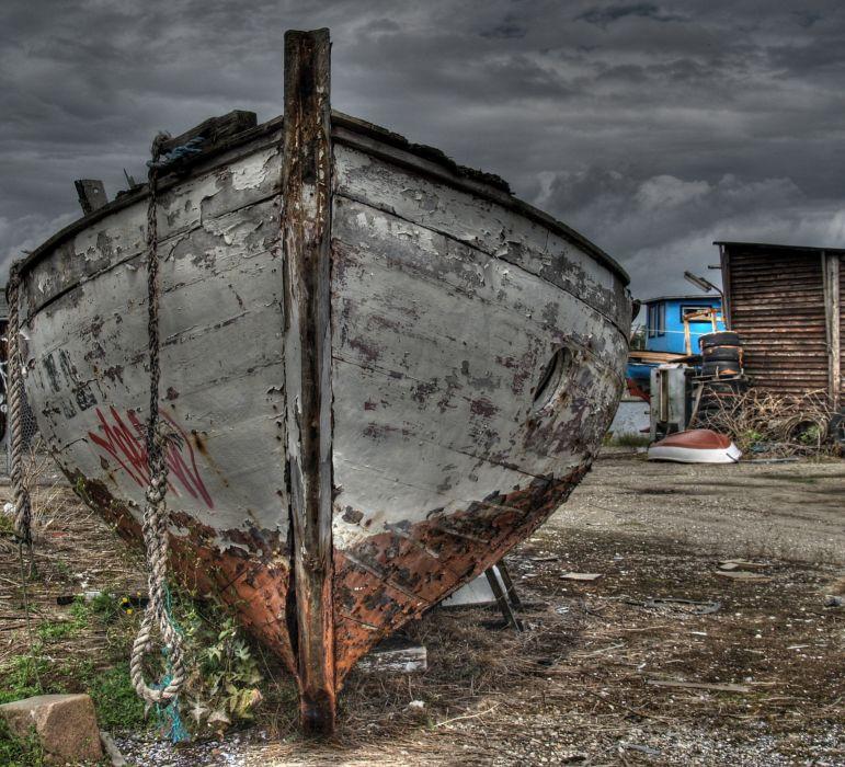 bote pesca viejo  wallpaper