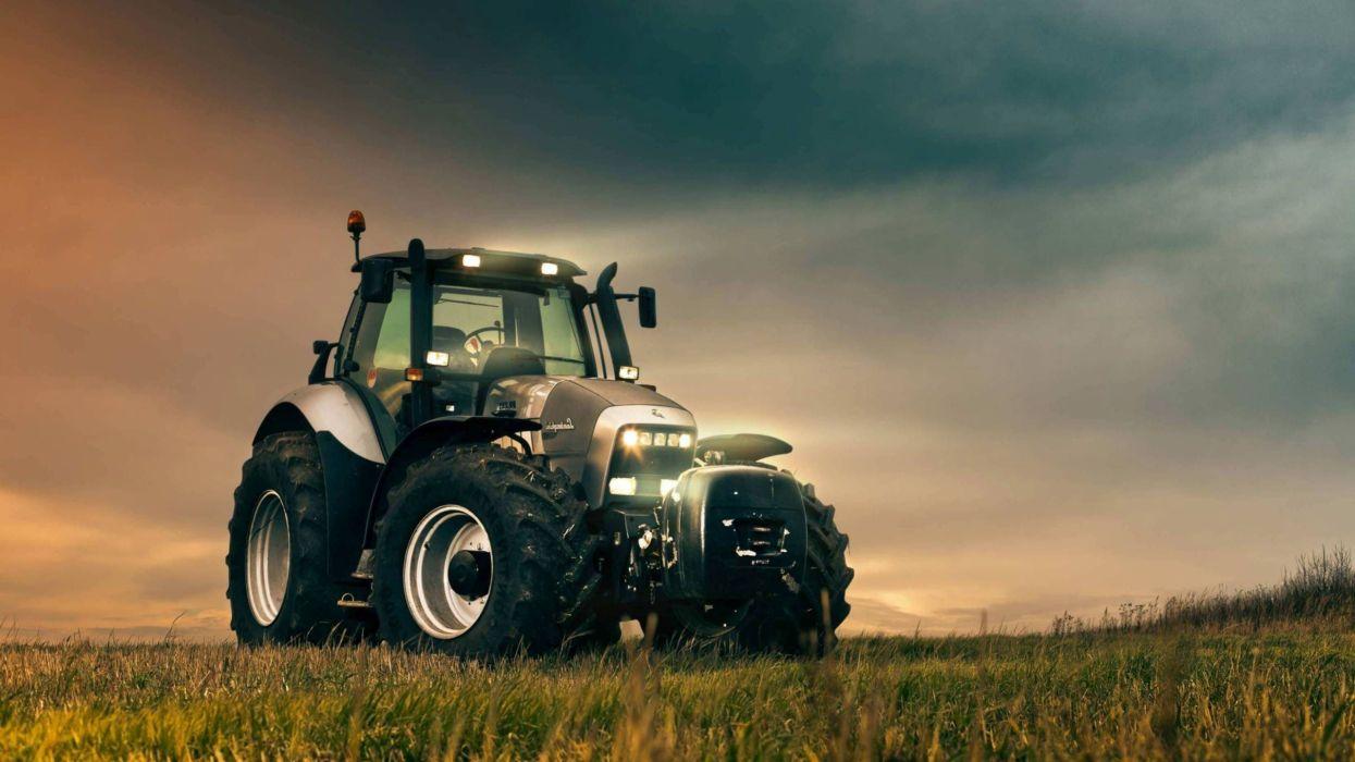 tractor trabajo campo wallpaper