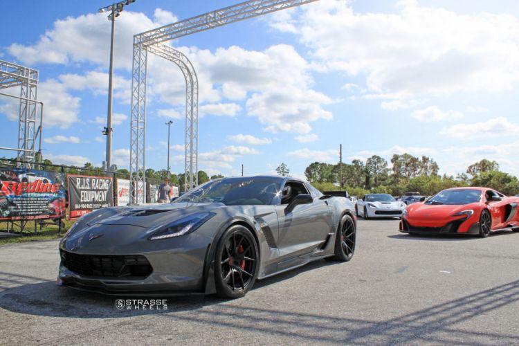 Strasse Wheels Ferrari Corvette Z06 cars wallpaper