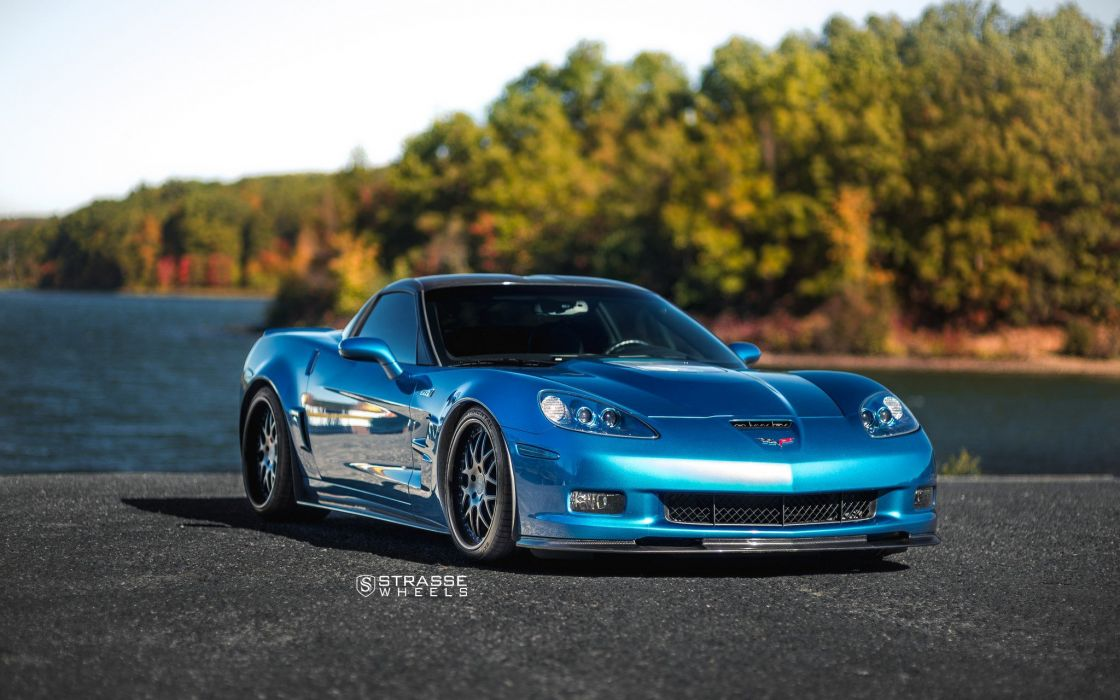Strasse Wheels Ferrari Corvette zr1 cars wallpaper