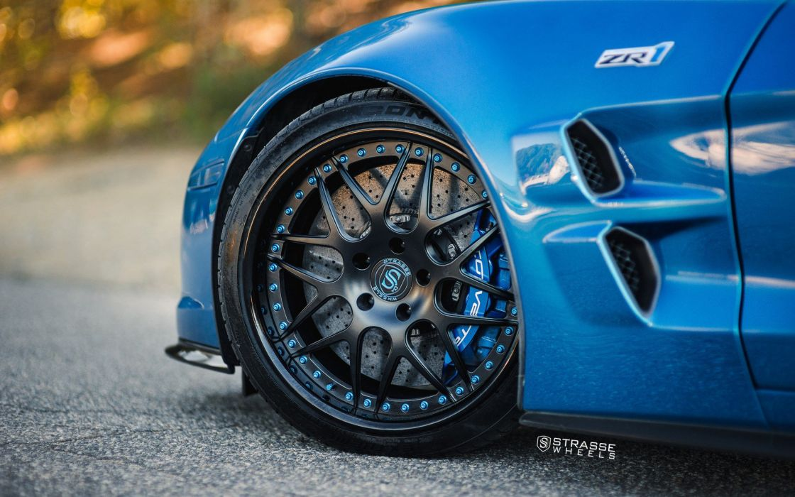 Strasse Wheels Ferrari Corvette zr1 cars wallpaper