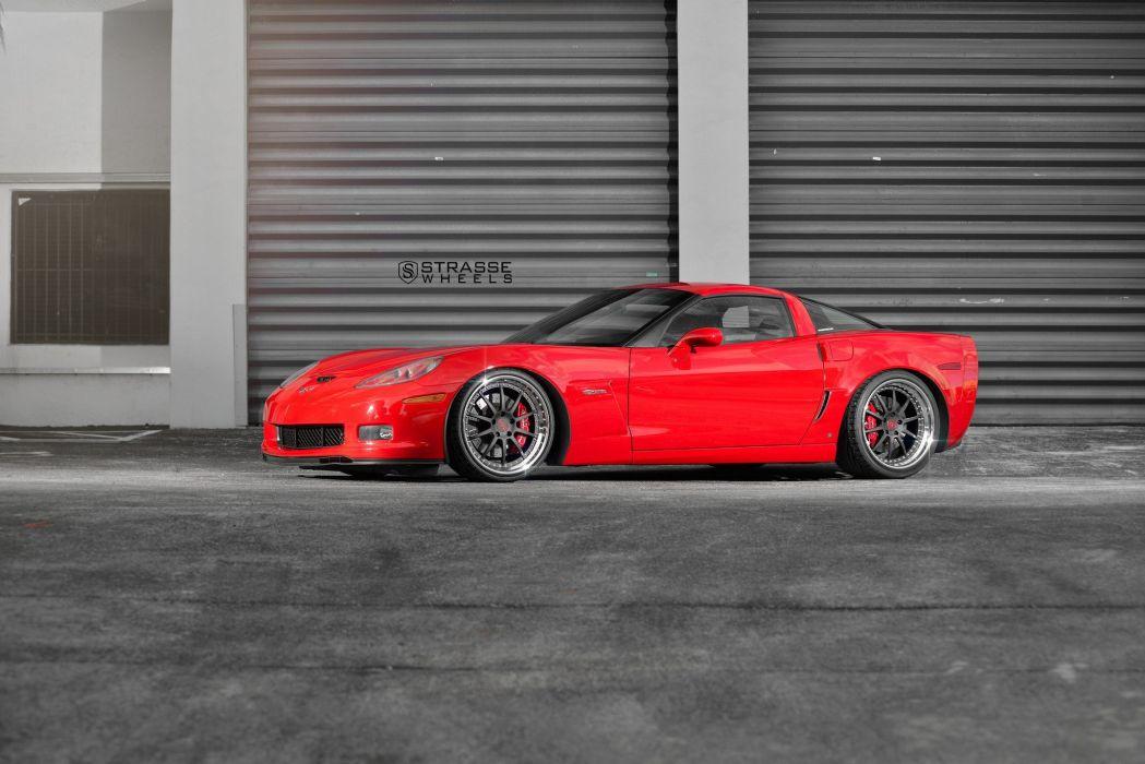 Strasse Wheels Corvette Z06 cars wallpaper