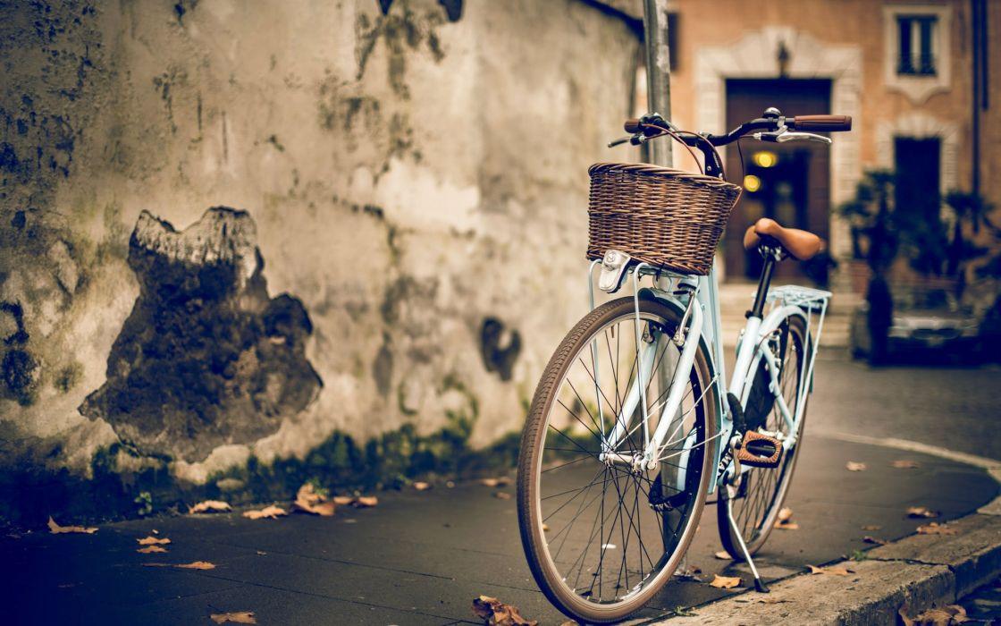bicicleta cesta ciudad wallpaper