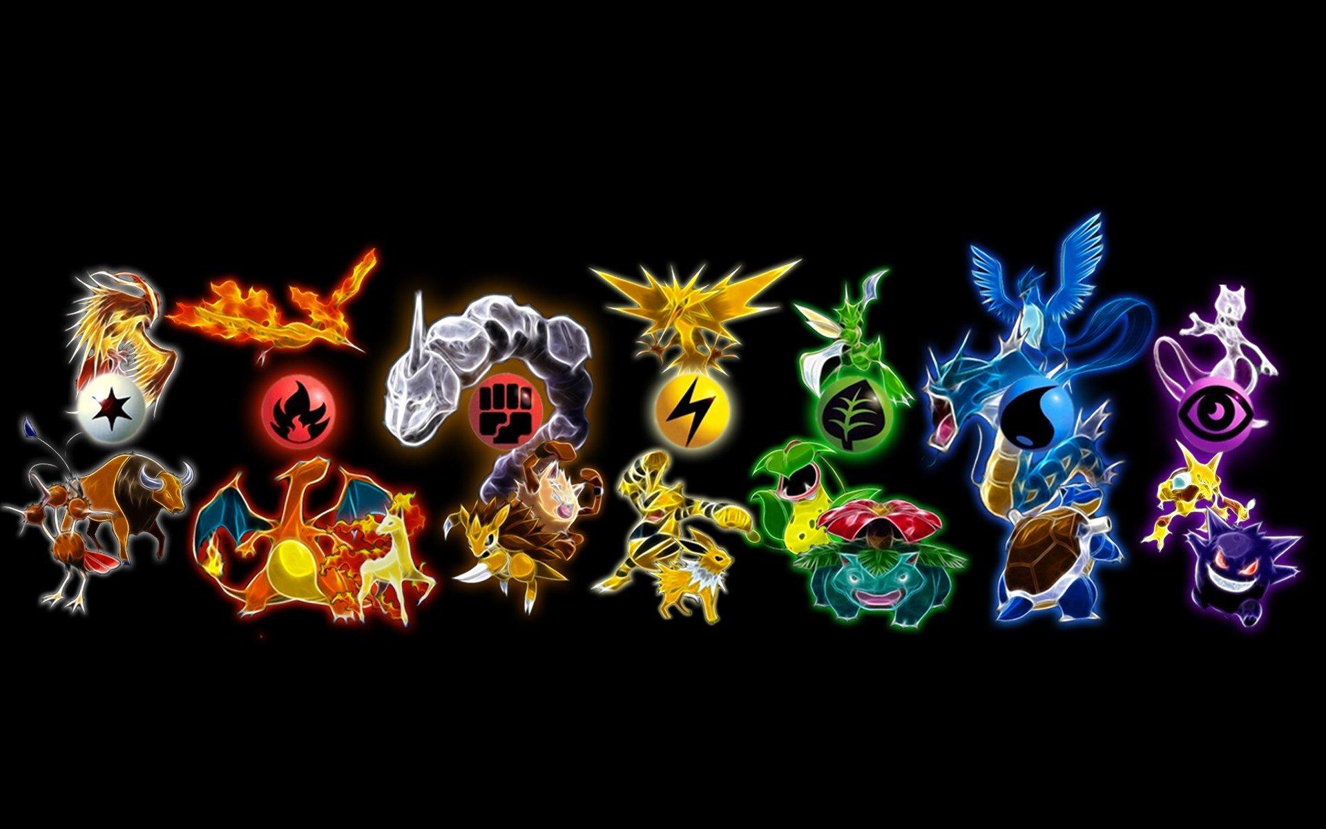 Pokemon Elements Wallpaper 1920x1200 1068679 Wallpaperup
