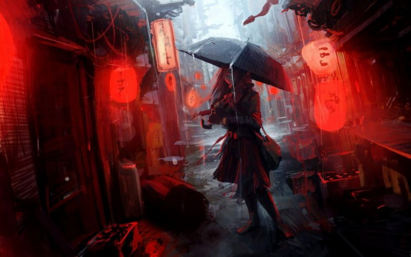 rainy night wallpaper
