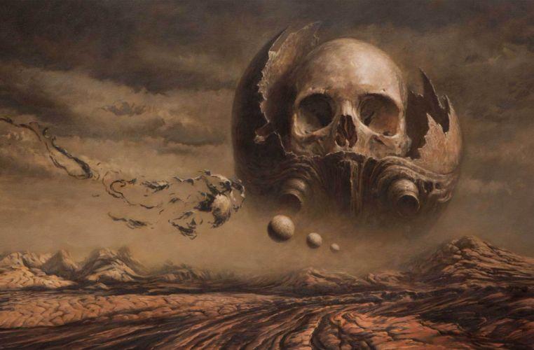 Skull ship wallpaper