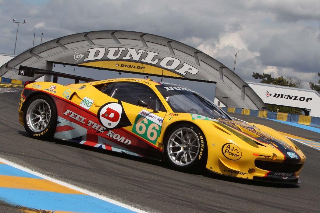 Ferrari 458 GTLM Race Car wallpaper