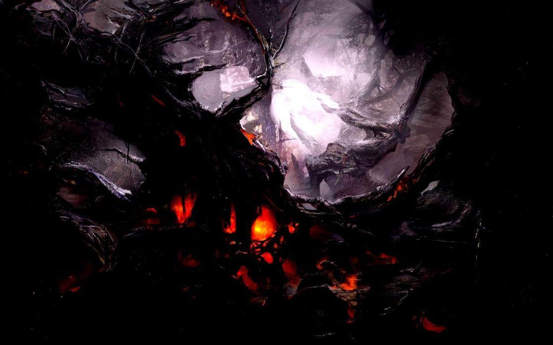 burning tree  wallpaper
