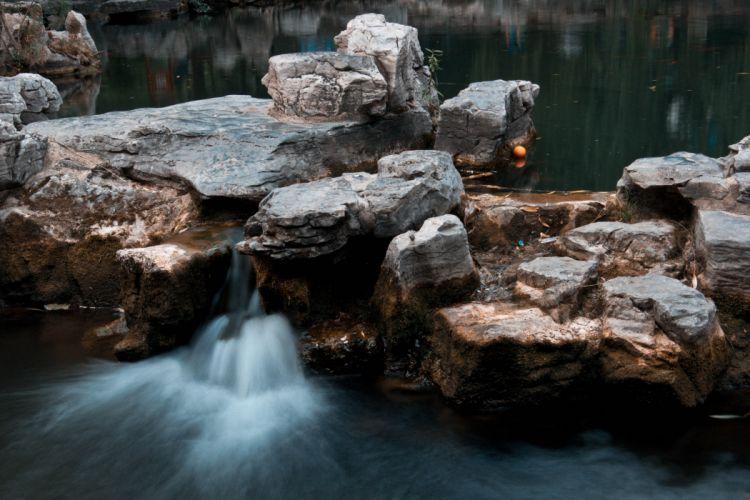 lake Stones water nature beauty wallpaper