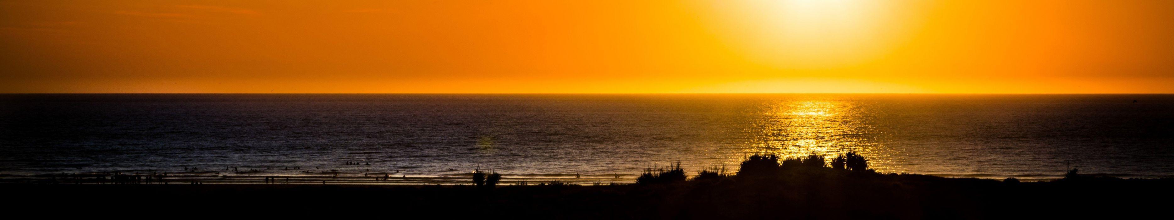 landscape sunset Triple Screen wallpaper
