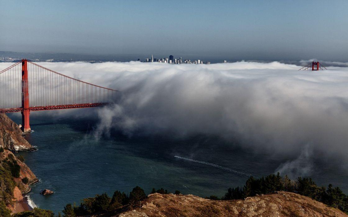 Fog Golden Gate Bridge wallpaper
