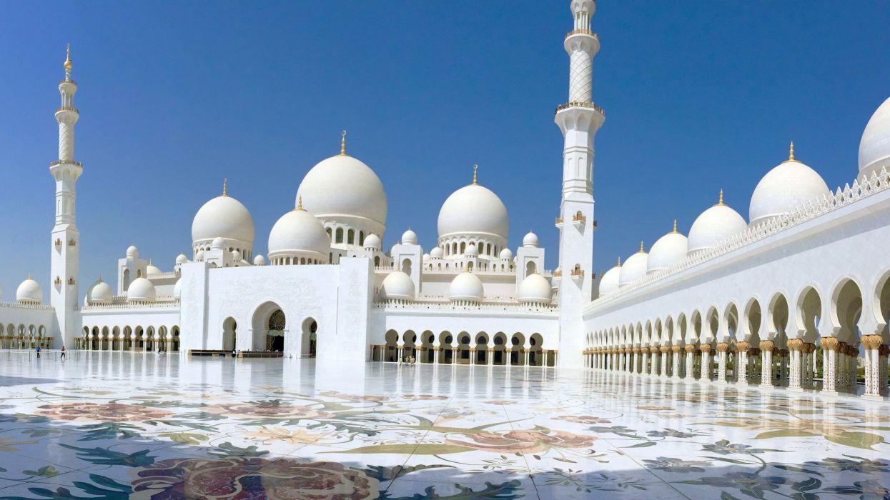 mezquita blanca abu dhabi emiratos arabes unidos wallpaper