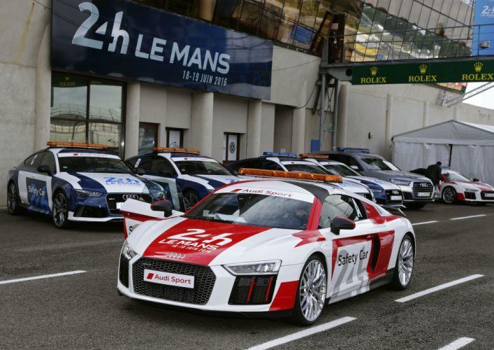 Audi R8 V10 Plus 24 Hours of Le Mans Safety Car 2016 wallpaper