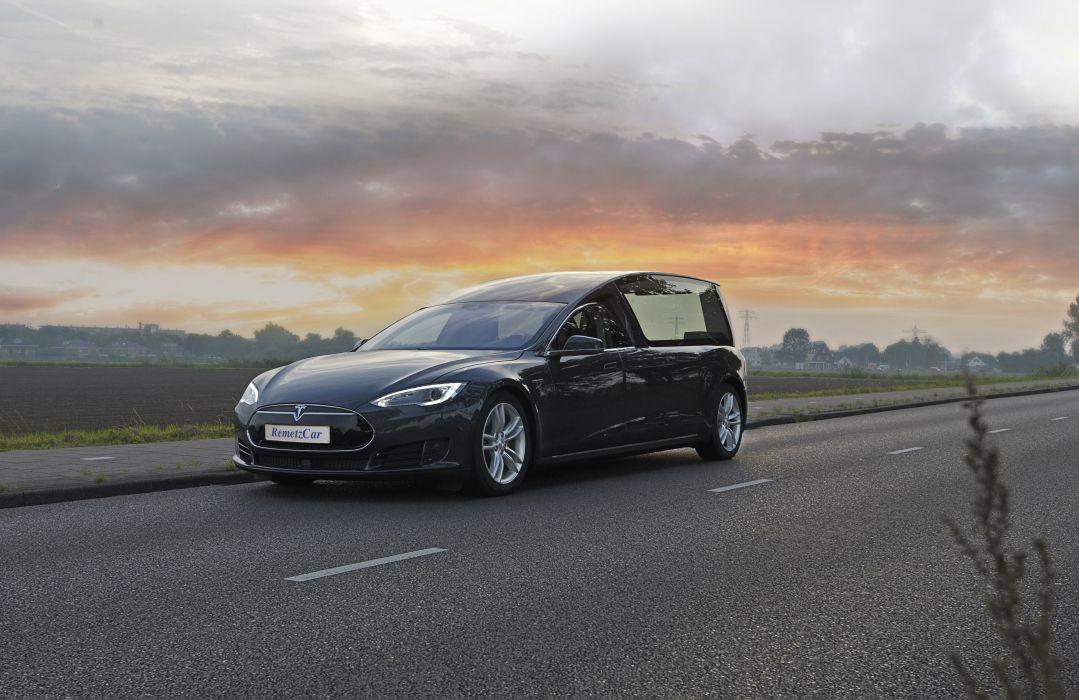 RemetzCar Tesla Model S Begrafeniswagen 2016 wallpaper
