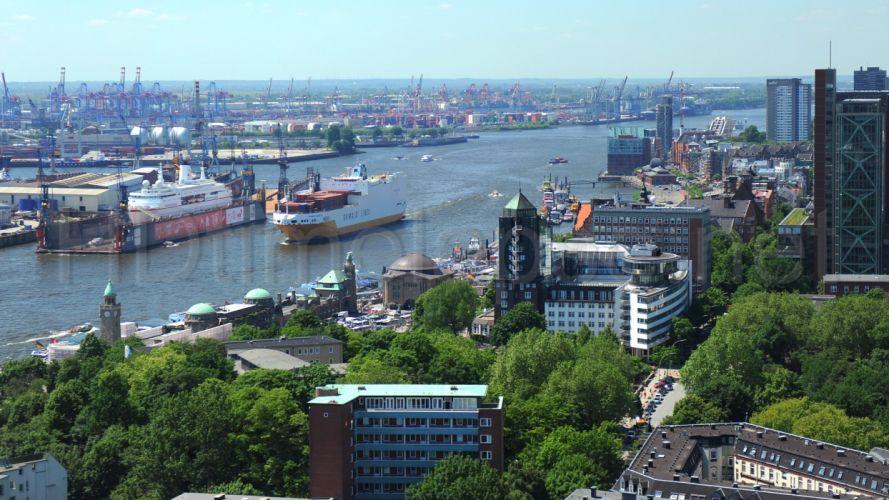 hamburgo alemania europa puerto ciudad wallpaper