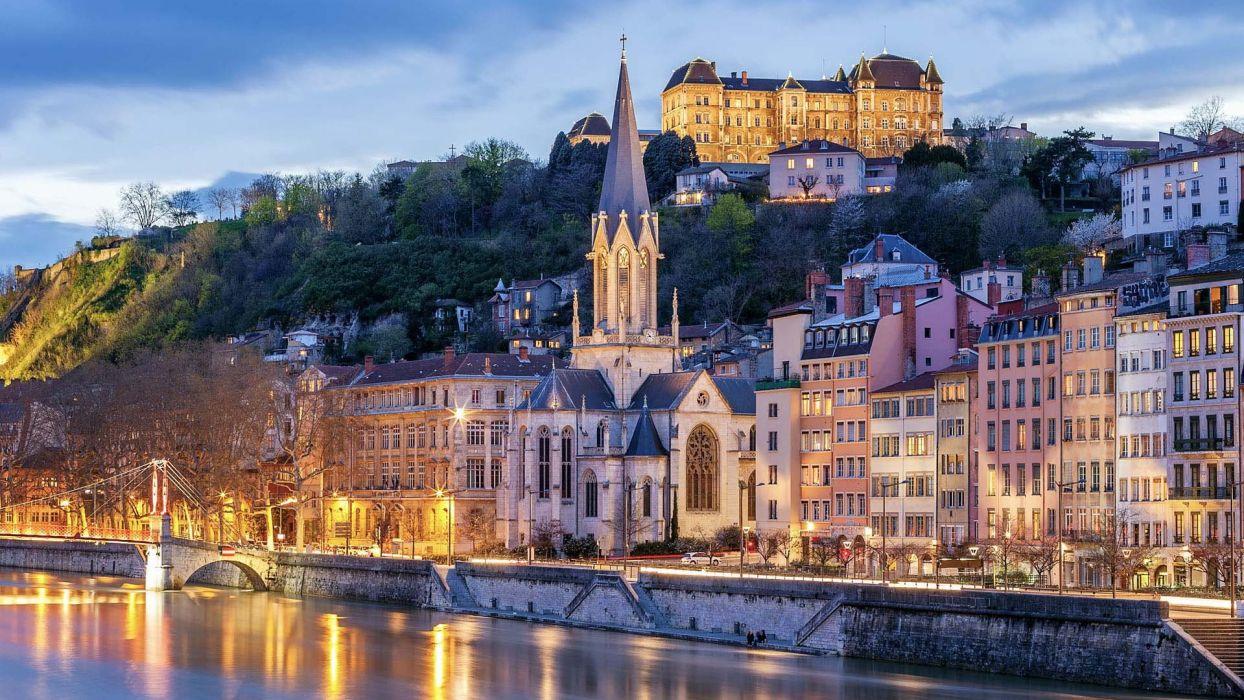 Lyon francia rio ciudad europa wallpaper