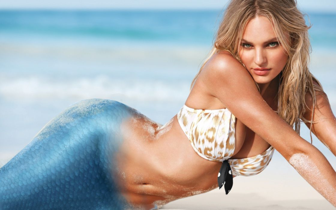 Candice-Swanepoel-mermaid wallpaper
