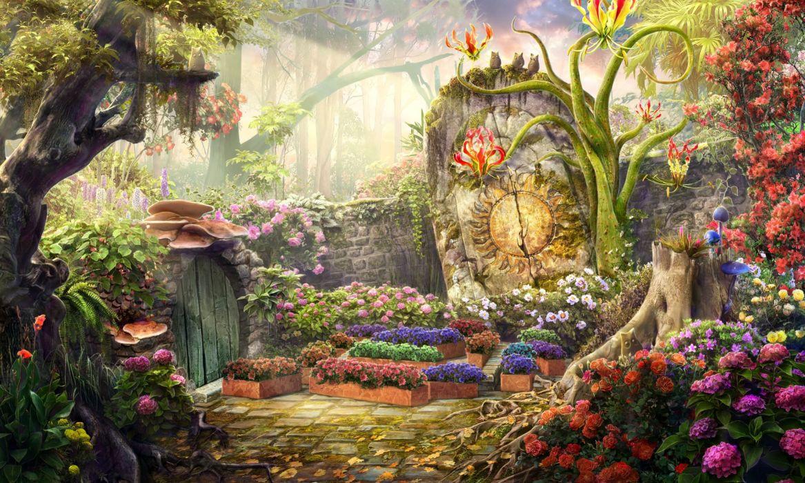 Fantasy Garden wallpaper