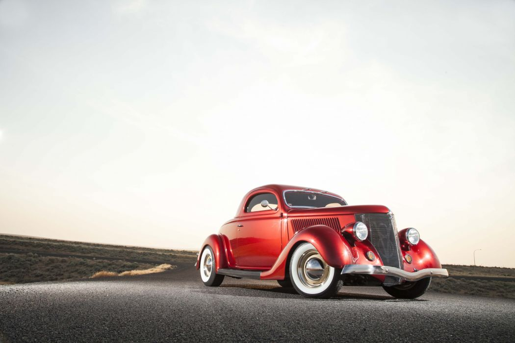 1936 Ford coupe cars red wallpaper